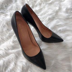 Classic Black Leather Stilettos
